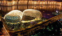 Book flights online to Singapore and visit Esplanade