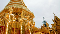 Fly to Chiang Mai with cheapest airfare and visit Wat Phra That Doi Suthep