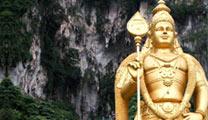 Book flights online to Kuala Lumpur and visit Batu Caves