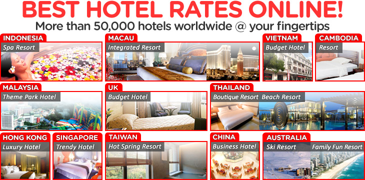 Pay less for flight + Hotel! More than 50,000 hotels worldwide @ your fingertios.