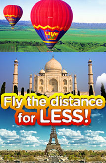 Fly the distances for LESS!