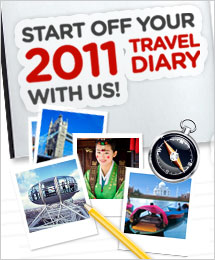 Start off your 2011 travel diary with us!