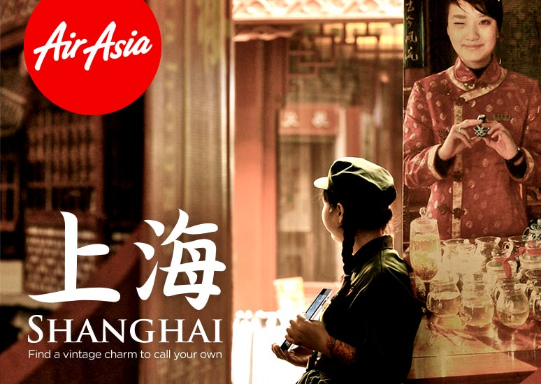 Fly from Kuala Lumpur to Shanghai - Find a vintage charm to call your own.