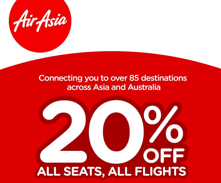 20% Off All Seats, All Flights!